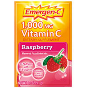 Emergen-C Vitamin C Drink Mix Raspberry 10 pkts by Alacer