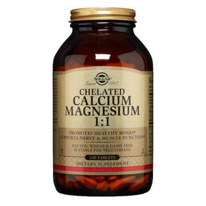 Chelated Calcium Magnesium 1:1 Tablets 240 Tabs by Solgar