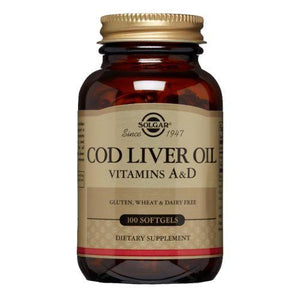 Norwegian Cod Liver Oil Softgels (Vitamin A & D Supplement) 100 S