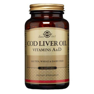 Norwegian Cod Liver Oil Softgels (Vitamin A & D Supplement) 250 Sof