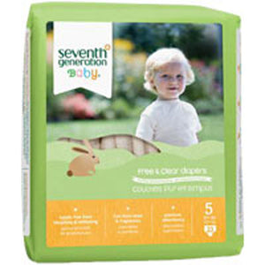 Baby Diapers Stage 5 23 CT(case of 4) by Seventh Generation