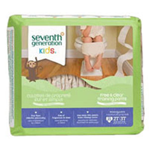 Free and Clear Training Pants 3T-4T 3T-4T, 22 CT(case of 4) by Seventh Generation