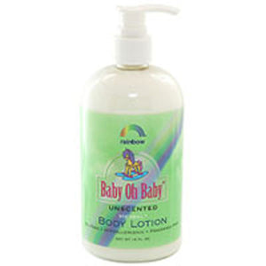 Baby Oh Baby Body Lotion Unscented 16 OZ by Rainbow Research (2587585380437)