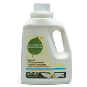 Natural 2X Concentrated Liquid Laundry Detergent White Flower and Bergamot Citrus 100 OZ(case of 4) by Seventh Generation