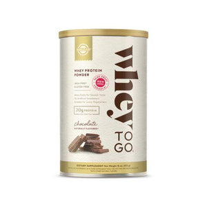 Whey To Go Protein Powder Natural Chocolate Flavor 16 oz by Solgar