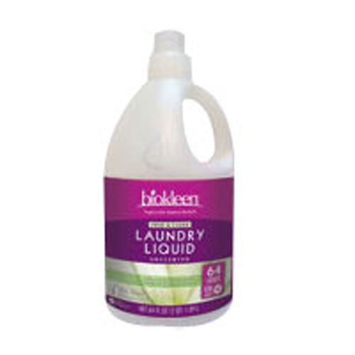 Free and Clear Laundry Liquid 64 OZ(case of 6) by Bio Kleen