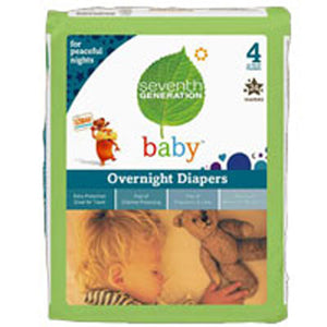 Baby Overnight Diapers Stage 4, 24 CT(case of 4) by Seventh Generation