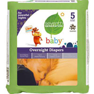 Baby Overnight Diapers Stage 5, 20 CT(case of 4) by Seventh Generation