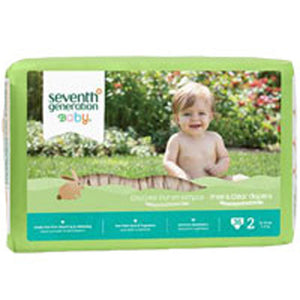 Free and Clear Baby Diapers Stage 2, 36 CT(case of 4) by Seventh Generation