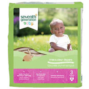 Free and Clear Baby Diapers Stage 3, 31 CT(case of 4) by Seventh Generation
