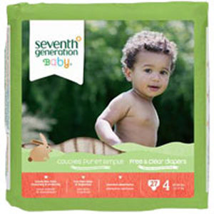 Free and Clear Baby Diapers Stage 4, 27 CT(case of 4) by Seventh Generation