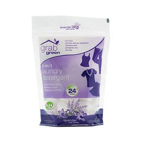 3-in-1 Laundry Detergent Lavender with Vanilla 24 loads(case of 6) by Grab Green (2587593769045)