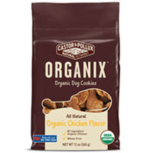 Organic Dog Cookies Chicken 12 oz(case of 8) by Castor & Pollux (2587594063957)