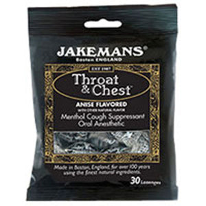 Throat And Chest Lozenges Anise 30 ct (Case of 12) by Jakemans