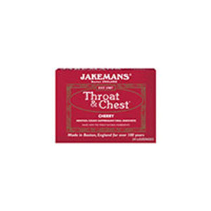 Throat And Chest Lozenges Cherry Menthol 30 ct by Jakemans