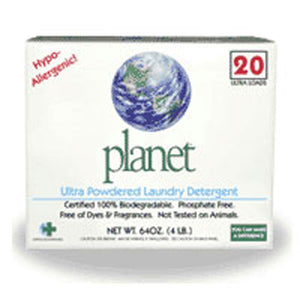 Ultra Powdered Laundry Detergent 64 OZ(case of 10) by Planet Inc. (2587595505749)