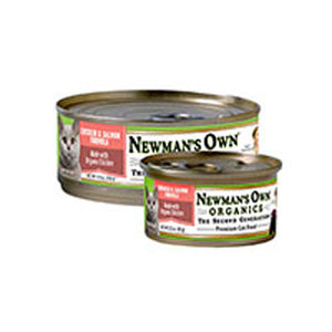 Organics Chicken and Salmon Formula for Cats 5.5 OZ(case of 24) by Newman's Own Organics  (2587595898965)