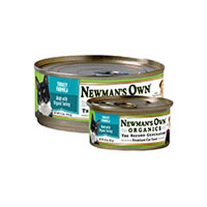 Organics Turkey Formula for Cats 5.5 OZ(case of 24) by Newman's Own Organics  (2587595997269)
