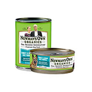 Organics Turkey and Brown Rice Formula for Dogs 12.7 OZ(case of 6) by Newman's Own Organics  (2587596488789)