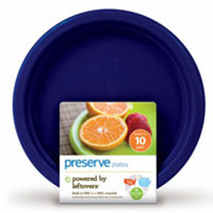 Reusable Plastic Plates Small Midnight Blue 10 CT by Preserve (2588094824533)