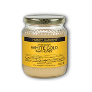 Raw Honey White Gold 1 LB by Honey Gardens Apiaries