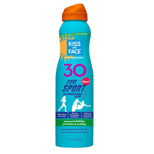 Cool Sport Mineral SPF 30 Lotion Continuous Spray Sunscreen 6 oz by Kiss My Face