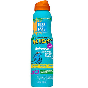 Kids Defense Mineral SPF 30 Continuous Spray Lotion 6 Oz by Kiss My Face