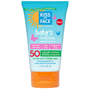 Baby's First Kiss Mineral SPF 50 Sunscreen Lotion 4 oz by Kiss My Face