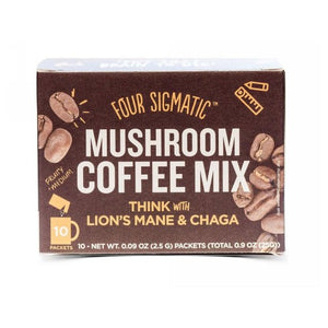 Mushroom Coffee with Lion's Mane and Chaga 10 Bags by Four Sigma Foods Inc