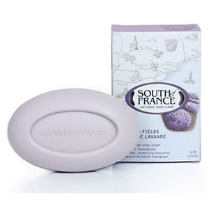 French Milled Oval Soap Lavender Fields 6 oz by South Of France Soaps (2590187323477)