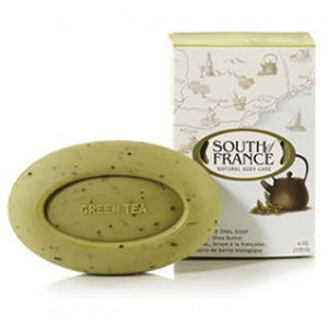 French Milled Oval Soap Green Tea 6 oz by South Of France Soaps (2590187192405)