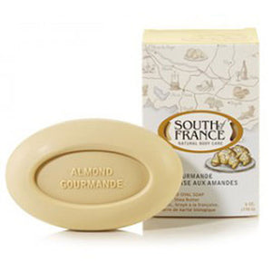 French Milled Oval Soap Almond Gourmande 6 oz by South Of France Soaps (2590187028565)