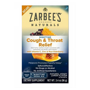 Cough & Throat Relief Nighttime Drink Honey Lemon 6 Packets by Zarbees (2590184243285)