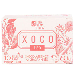 XOCO Red Cordyceps Mushroom Hot Chocolate Drink Mix 10 Ct by Four Sigma Foods Inc (2588302573653)