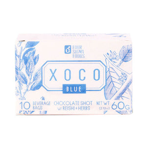 XOCO Blue Reishi Mushroom Hot Chocolate Drink Mix 10 Ct by Four Sigma Foods Inc (2588302540885)