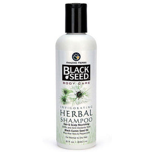 Black Seed Invigorating Herbal Shampoo 8 oz by Amazing Herbs (2588300017749)