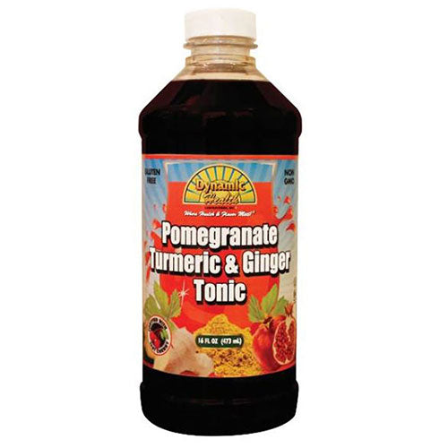 Gluten Free Tonic Pomegranate Turmeric & Ginger 16 oz by Dynamic Health Laboratories