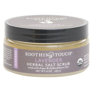 Herbal Salt Scrub Lavender 10 oz by Soothing Touch (2588299296853)