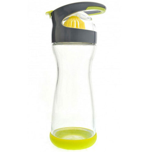 On-the-go Lemon Glass Water Bottle Lime 20 oz by Full Circle Home