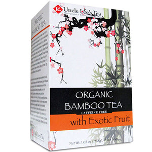 Organic Bamboo Tea Exotic Fruit 18 Bags by Uncle Lees Teas (2588286287957)