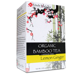 Organic Bamboo Tea Lemon Ginger 18 Bags by Uncle Lees Teas (2588286124117)