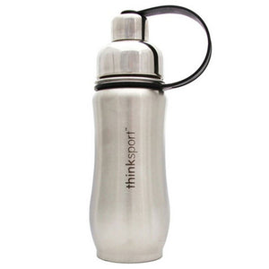 Stainless Steel Sports Bottle Black 12 Oz by ThinkSport (2588282749013)