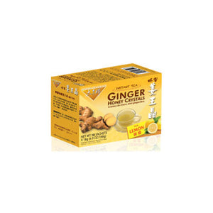 Ginger Honey Crystals with Lemon Sachets 10 Count by Prince Of Peace