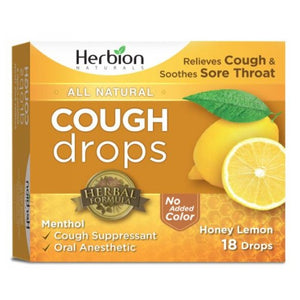 Cough Drops Natural Honey Lemon 18 Count by Herbion