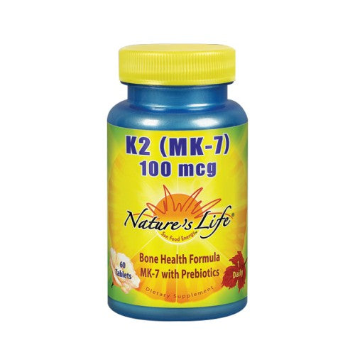 K2 (MK-7) 60 Tabs by Nature's Life