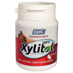 100% Xylitol Sweetened Breath Mints Cinnamon 180 Count by Epic Dental