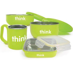 Feeding Set BPA Free Green 1 Count by Thinkbaby