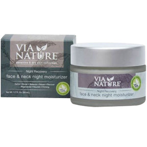 Night Recovery Face & Neck Night Moisturizer 1.7 Oz by Via Nature (2588266397781)