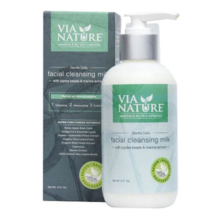 Gentle Daily Facial Cleansing Milk 6 Oz by Via Nature (2588266233941)
