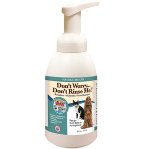 Don't Worry Don't Rinse Me! Rinseless Waterless Foam Shampoo for Dogs & Cats 18 Oz by Ark Naturals (2588262793301)